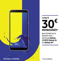 Offre de Remboursement Samsung : Jusqu'à 30€ Remboursés sur Galaxy J3 2017, Galaxy J6 ou Galaxy J6+