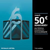 Offre de Remboursement Samsung : Jusqu'à 50€ Remboursés sur Galaxy A6