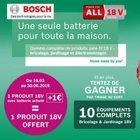 Bon Plan Bosch : 1 Produit 18V Offert pour 1€