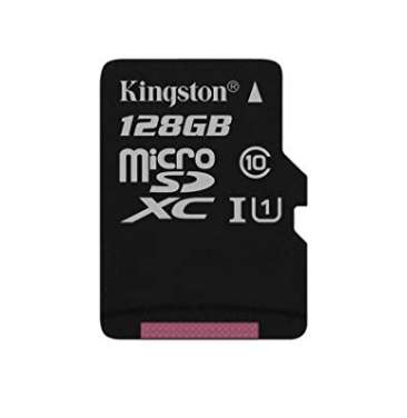 15.05€ la carte mémoire micro sd 128Go Kingston