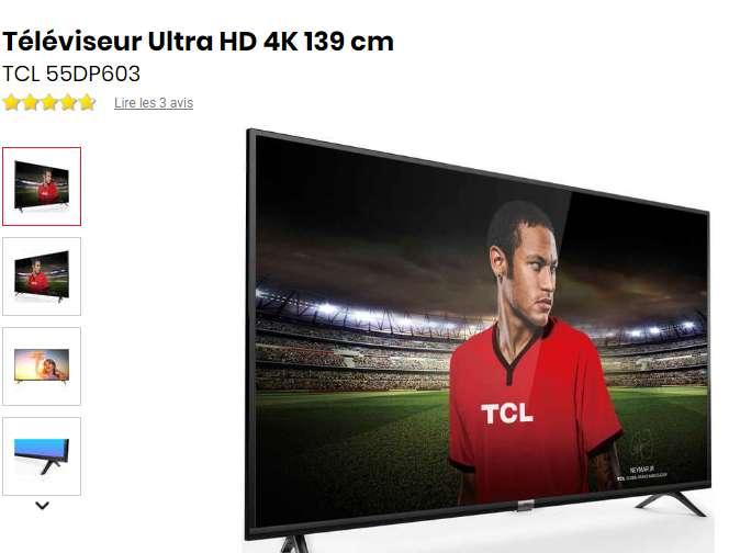 379€ la TV TCL 55 pouces 4K