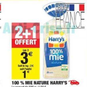 Pain 100% mie Harrys chez Carrefour Market (04/06 – 16/06)