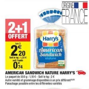 Pain American Sandwich Harrys chez Carrefour Market (04/06 – 16/06)