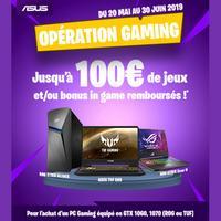 Offre de Remboursement Asus : Jusqu'à 100€ de Jeux et/ou Bonus Remboursés