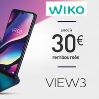 Offre de Remboursement Wiko : Jusqu'à 30€ Remboursés sur Smartphone View3