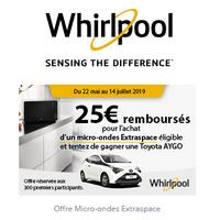 Offre de Remboursement Whirlpool : 25€ Remboursés sur Micro-Ondes