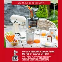 Bon Plan KitchenAid : 1 Extracteur de jus et sauce Offert pour l'achat d'un Robot Artisan