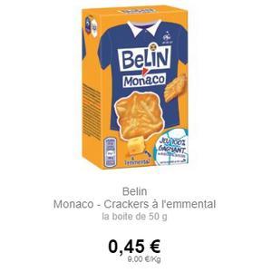 Crackers à l'Emmental Monaco de Belin partout