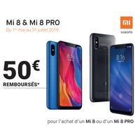 Offre de Remboursement Xiaomi : 50€ Remboursés sur Smartphone MI 8 & MI 8 PRO