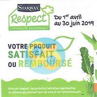 Offre de Remboursement Starwax : 1 Produit Respect Satisfait ou 100% Remboursé