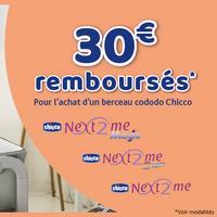 Offre de Remboursement Chicco : 30€ Remboursés sur Berceau Cododo