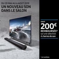 Offre de Remboursement Samsung : Jusqu'à 200€ Remboursés sur Barres de Son