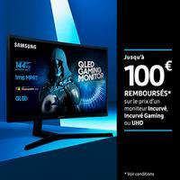 Offre de Remboursement Samsung : Jusqu'à 100€ Remboursés sur Moniteur Incurvé ou UHD