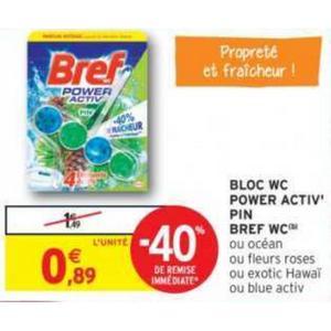 Bloc WC Bref chez Intermarché (04/06 – 16/06)