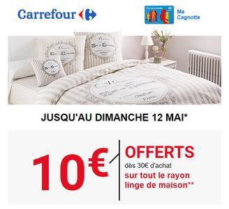 Vignette Carrefour Linge De Maison.Bon D Achat Linge De Maison Chez Carrefour 06 05 12 05