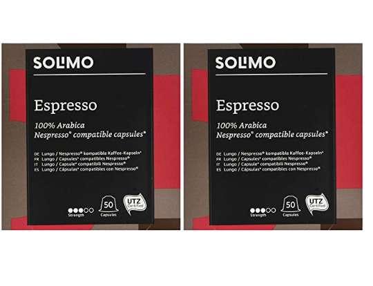 Capsules Amazon Compatibles Nespresso autour de 8-12€ les 100.