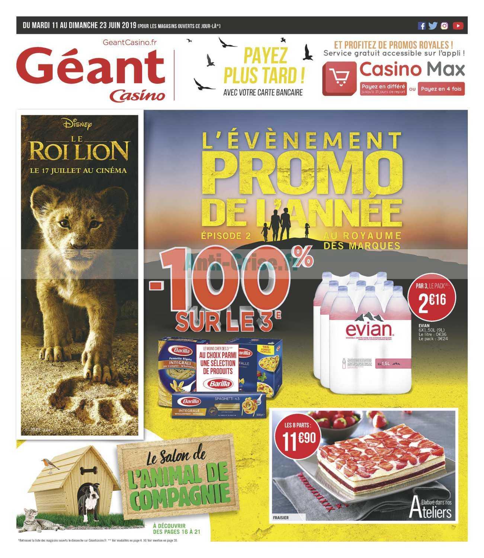 Catalogue Géant Casino du 11 au 23 juin 2019