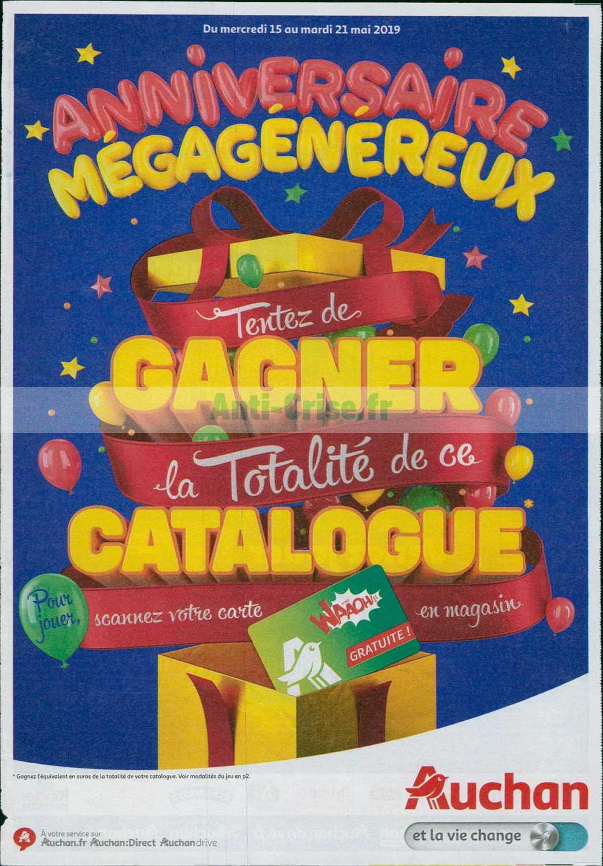 Carte Anniversaire Auchan.Catalogue Auchan Du 15 Au 21 Mai 2019 Anniversaire