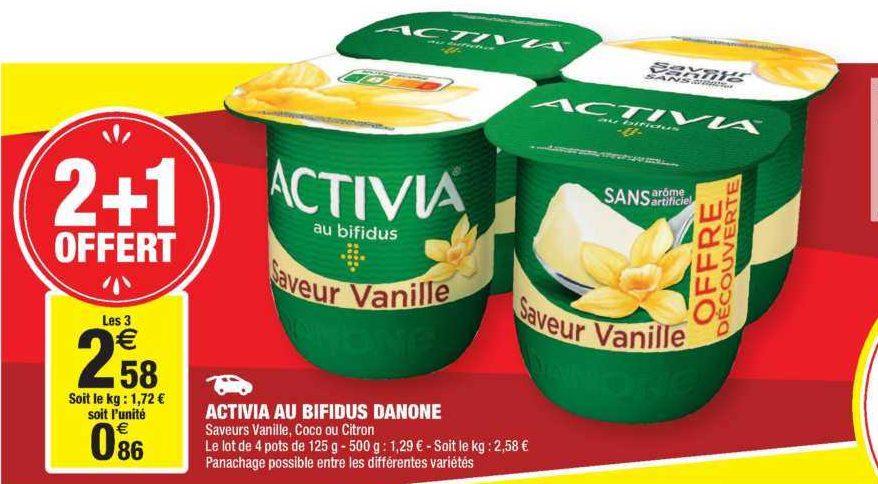 Yaourts Saveur Coco ou Citron  Activia chez Carrefour Market (18/06 – 30/06)