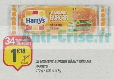 Pain à Burger Harrys chez Netto (12/06 – 16/06)