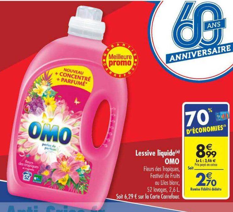 Lessive Liquide Omo chez Carrefour (18/06 – 24/06)