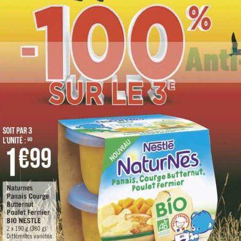 Naturnes Repas Complet Panais Bio Nestlé Bébé chez Géant Casino (25/06 – 07/07)