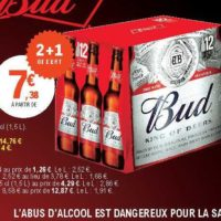 Pack de bière 6x25cl Bud chez Leclerc Occitanie (26/06 – 06/07)