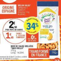 Noix de Cajou Daco Bello chez Leclerc Occitanie (26/06 – 30/06)