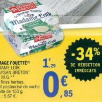 Fromage fouetté Madame Loïk chez Leclerc Nord-Est (25/06 – 29/06)