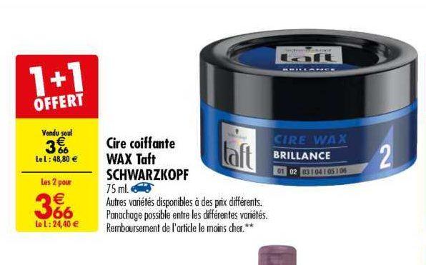 Cire Coiffante Taft chez Carrefour (11/06 – 24/06)