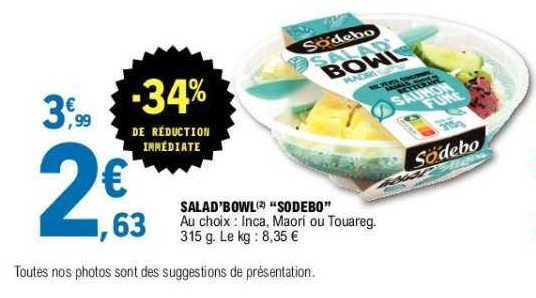 Salade Bowl Sodebo chez Leclerc (11/06 – 22/06)