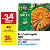 Tarte soleil Blini chez Carrefour (11/06 – 24/06)