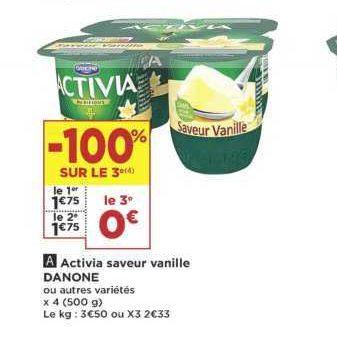 Yaourts Saveur Activia chez Casino (18/06 – 30/06)