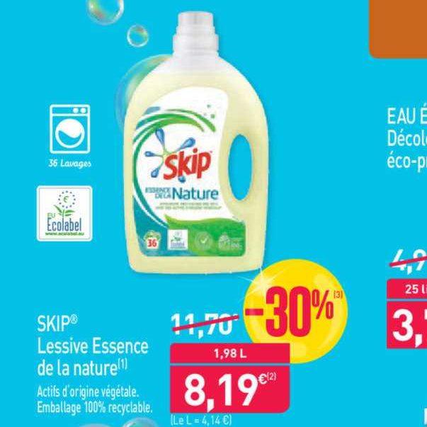 Lessive Liquide Essence de la Nature Skip chez Aldi (26/06 – 02/07)