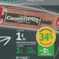 Kit pizza Croustipâte chez Leclerc Sud-Ouest (25/06 – 06/07)