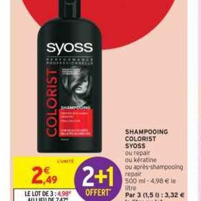Shampooing Syoss chez Intermarché (12/06 – 23/06)