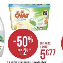 Lessive en capsules Le Chat chez Géant Casino (18/06 – 30/06)