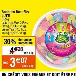 Bonbons Lutti chez Cora (25/06 – 01/07)
