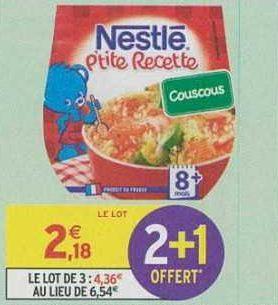 P'tite Recette Nestlé Bébé chez Intermarché (18/06 – 23/06)