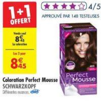 Coloration Perfect Mousse chez Carrefour (25/06 – 08/07)