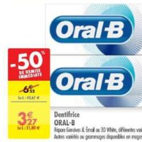 Dentifrice Oral-B chez Carrefour (25/06 – 08/07)
