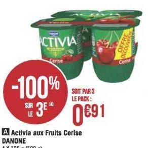 Yaourts aux fruits Activia chez Géant Casino (18/06 – 30/06)