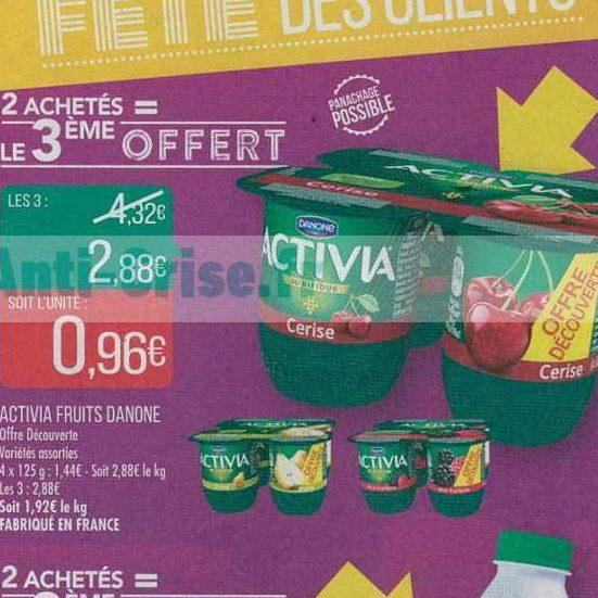Yaourts aux Fruits Activia chez Match (26/06 – 07/07)