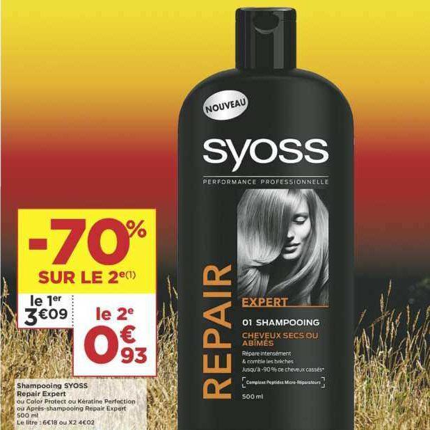 Shampoing Syoss chez Casino (11/06 – 23/06)