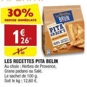 Biscuits Apéritif Pita Belin chez Atac (13/06 – 17/06)