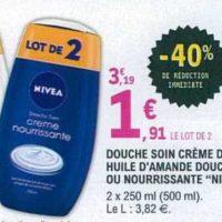 Douche soin Nivea chez Leclerc Centre-Est (25/06 – 06/07)