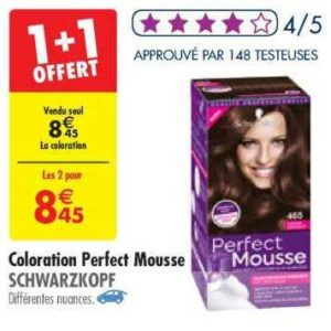 Coloration Perfect Mousse chez Carrefour (25/06 – 08/07)