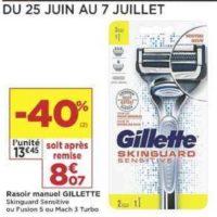 Rasoir Skinguard Gillette chez Casino (25/06 – 07/07)