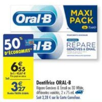 Dentifrice Oral-B chez Carrefour (18/06 – 24/06)