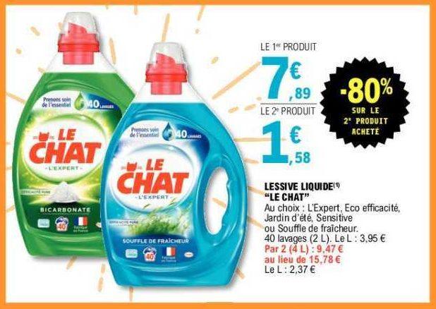 Lessive Liquide Le Chat chez Leclerc (11/06 – 22/06)